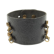 Lenny and Eva Wide Cuff in Distressed Black