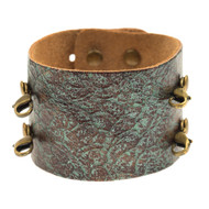 Lenny and Eva Wide Cuff in Distressed Turquoise