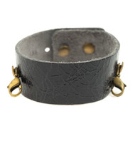 Lenny and Eva Thin Cuff in Distressed Black