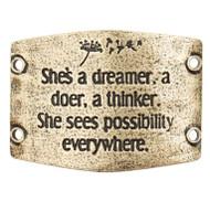 Lenny and Eva She's a dreamer, a doer, a thinker... - Brass