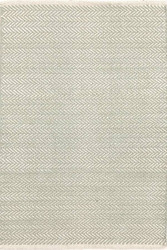 Dash and Albert Herringbone Ocean Woven Cotton Rug