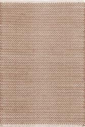 Dash and Albert Herringbone Stone Woven Cotton Rug