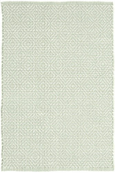 Dash and Albert Beatrice Pale Green Woven Cotton Rug
