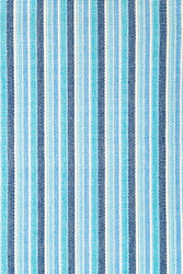 Dash and Albert Bluemarine Ticking Woven Cotton Rug