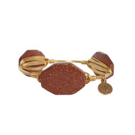 Bourbon and Boweties Bangle - Medium Copper Sparkle