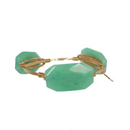 Bourbon and Boweties Bangle - Light Green Stone