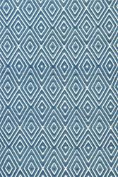 Dash and Albert Diamond Denim/White Indoor/Outdoor Rug
