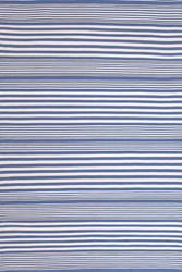 Dash and Albert Rugby Stripe Denim Indoor/Outdoor Rug