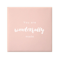 Petal Lane Wonderfully Made Pink Canvas Magnet