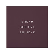 Petal Lane Dream Believe Achieve Canvas Magnet Aubergine