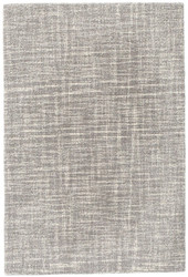 Dash and Albert Crosshatch Dove Grey Wool Micro Hooked Rug