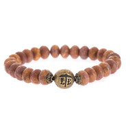 Lenny and Eva Beaded Bracelet - Bronze
