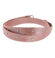 Lenny and Eva Leather Wrap - Blush Studded