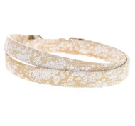 Lenny and Eva Leather Wrap - Whitewash