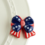 Nora Fleming Independence Bow Mini - Red, White, Blue Bow