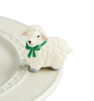Nora Fleming White Lamb Mini - I Love Ewe!