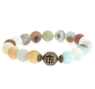 Lenny and Eva Beaded Bracelet - Matte Amazonite