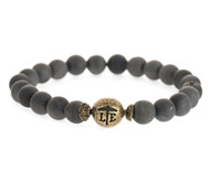 Lenny and Eva Beaded Bracelet - Matte Druzy Black