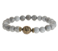 Lenny and Eva Beaded Bracelet - Matte Druzy Silver