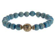 Lenny and Eva Beaded Bracelet - Matte Druzy Teal