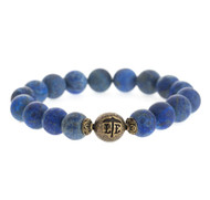 Lenny and Eva Beaded Bracelet - Matte Lapis