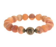 Lenny and Eva Beaded Bracelet - Matte Sunstone