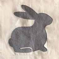 Nora Fleming Pillow Panel - Bunny