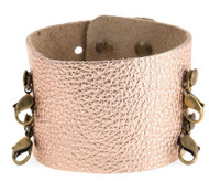 Lenny and Eva Wide Cuff in Rose Gold