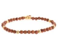 Lenny and Eva Refined Beaded Bracelet - Brown Goldstone