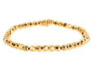 Lenny and Eva Refined Beaded Bracelet - Gold Crystal
