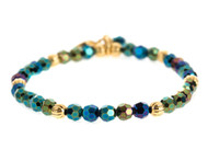 Lenny and Eva Refined Beaded Bracelet - Iris Green