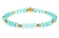 Lenny and Eva Refined Beaded Bracelet - Light Aqua