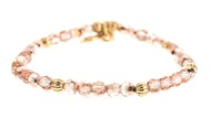 Lenny and Eva Refined Beaded Bracelet - Peach Crystal