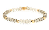 Lenny and Eva Refined Beaded Bracelet - Smoke