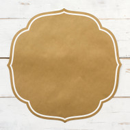 Hester and Cook - Gold Medallion Die-Cut Paper Placemat Sheets