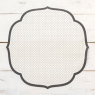 Hester and Cook - Swiss Dot Medallion Die-Cut Paper Placemat Sheets