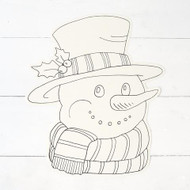 Hester and Cook - Coloring Snowman Die-Cut Paper Placemat Sheets