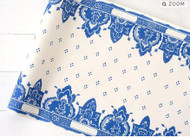 Kitchen Paper -China Blue Paper Table Runner, Molly Hatch Design