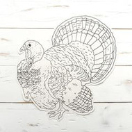 Hester And Cook   Coloring Turkey Die Cut Paper Placemat Sheets