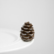 Nora Fleming Brown and White Pinecone Mini
