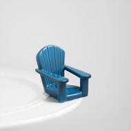 Nora Fleming Chillin Blue Chair Mini