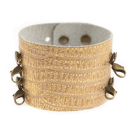 Lenny and Eva Wide Cuff in Exotic Gold