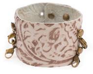 Lenny and Eva Wide Cuff in Embossed Taupe