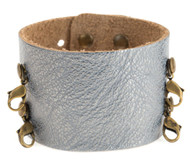 Lenny and Eva Wide Cuff in Gunmetal