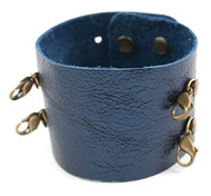 Lenny and Eva Wide Cuff in Metallic Navy