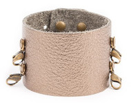 Lenny and Eva Wide Cuff in Pyrite