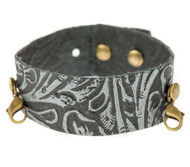 Lenny and Eva Thin Cuff in Embossed Black
