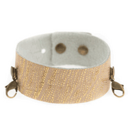 Lenny and Eva Thin Cuff in Exotic Gold