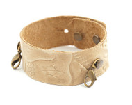 Lenny and Eva Thin Cuff in Embossed Natural