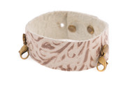 Lenny and Eva Thin Cuff in Embossed Taupe